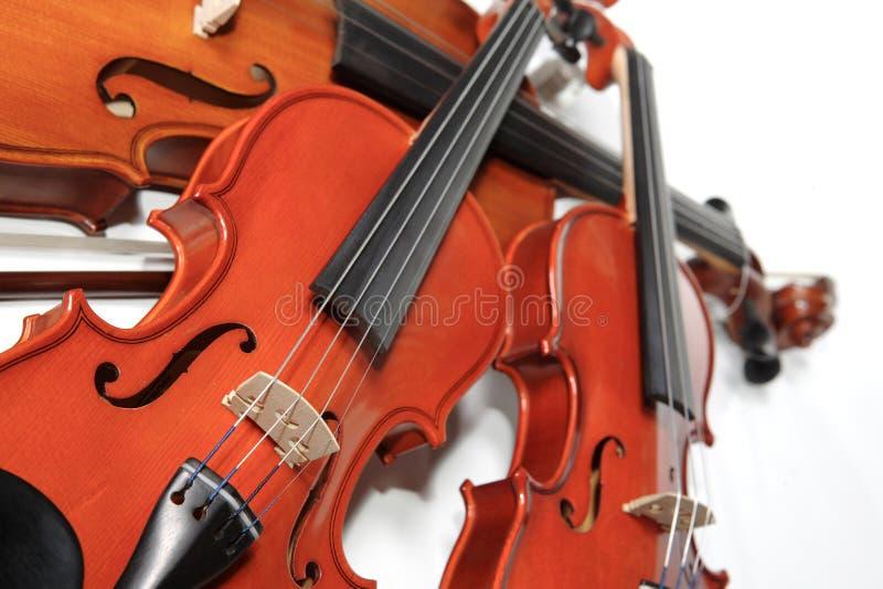 Three violins stock image