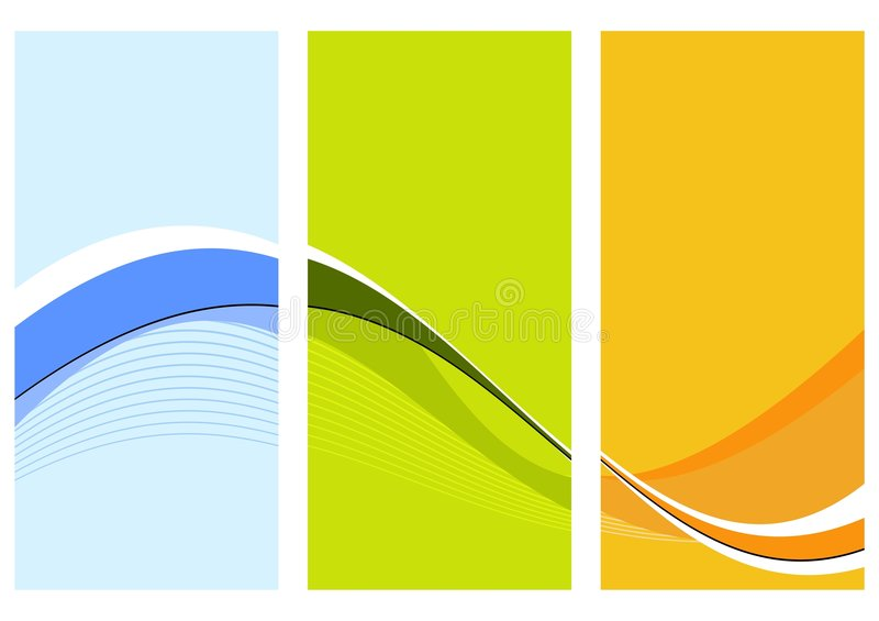 Download Three wavy columns stock vector. Illustration of abstractly - 3756528