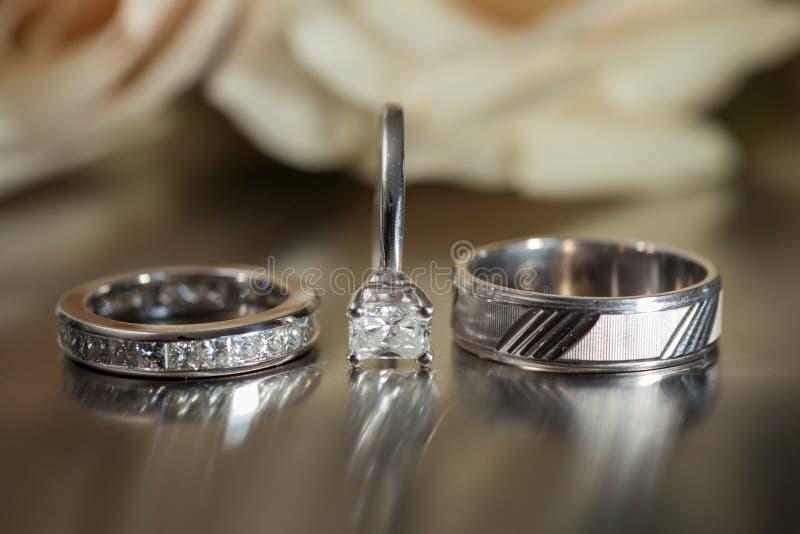 Three wedding rings stock photo Image of matrimony commitment