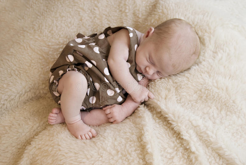 Download Three Week Old Baby Girl Sleeping Stock Photo - Image: 14854514