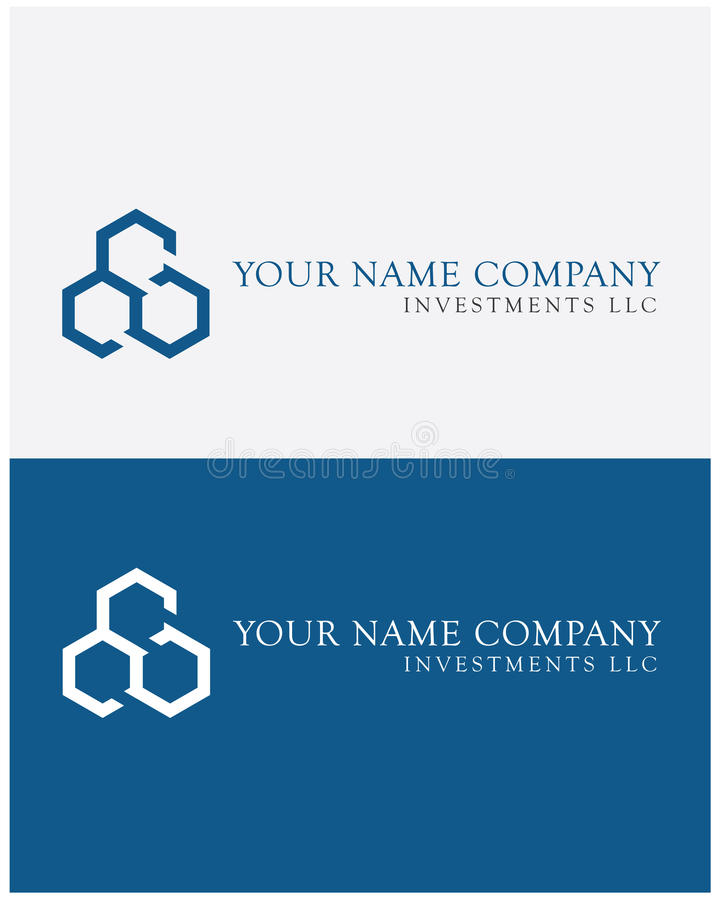 Three-wheel logo in blue royalty free stock images