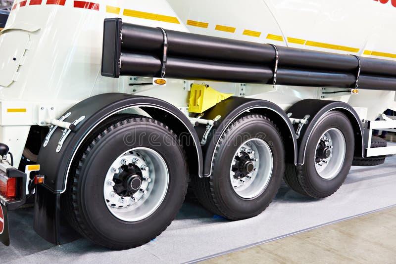Three wheels semi-trailer with tank royalty free stock image