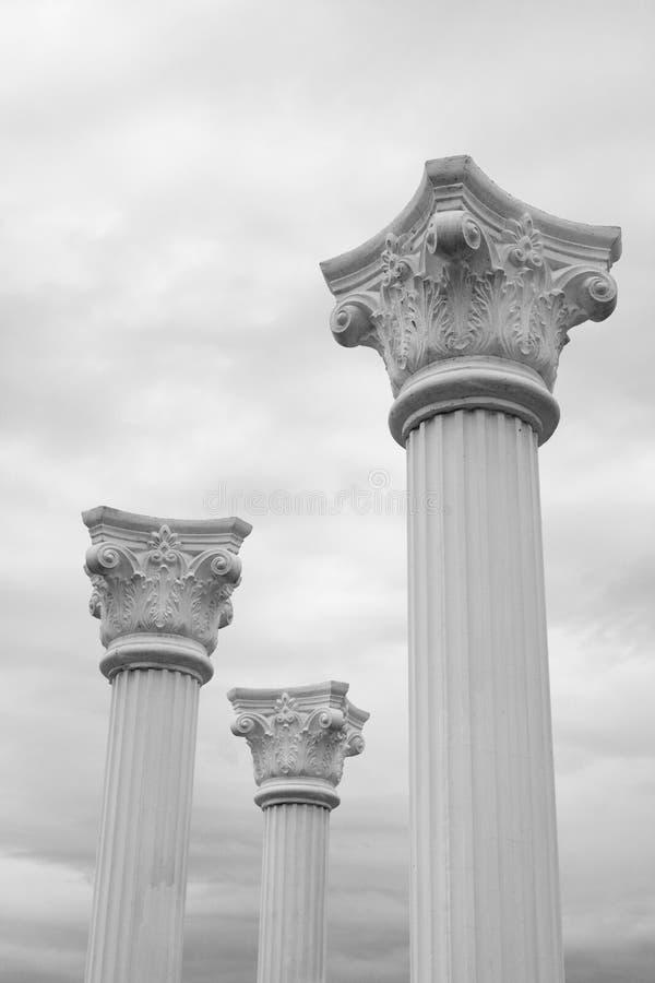 Free Three White Columns Stock Photo - 11069810