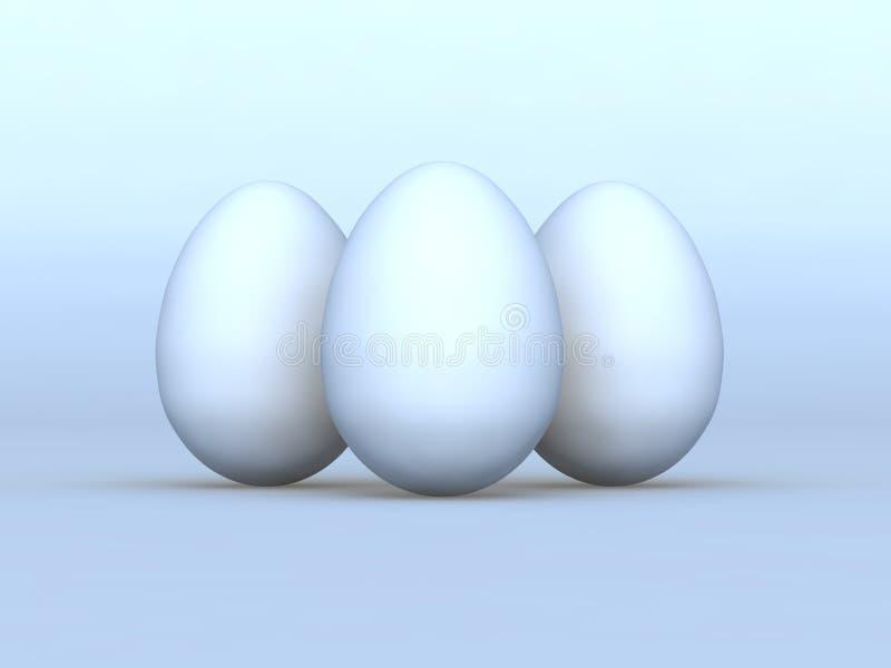 Download Three of white eggs stock illustration. Image of eggshell - 24104647