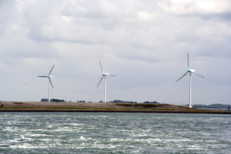 Three windmills royalty free stock images