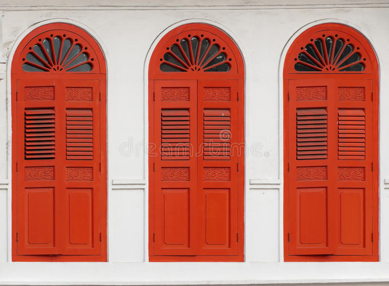 Download Three Windows stock image. Image of peranakan, floral - 10336213