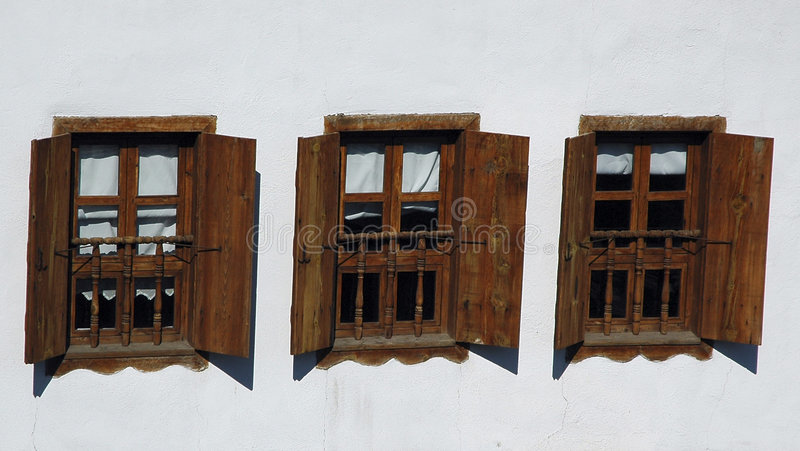 Download Three Windows stock image. Image of shutter, screen, timber - 22605