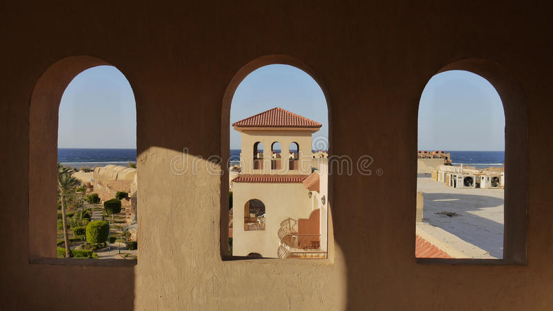 Download Three windows stock image. Image of plaster, arches, blue - 32571463