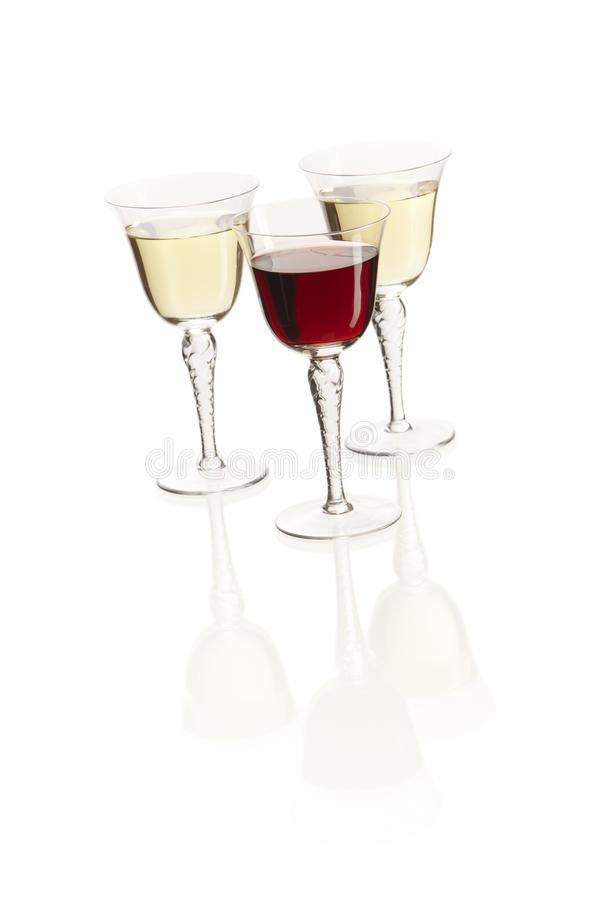 Free Three Wine Glasses Royalty Free Stock Images - 31439189