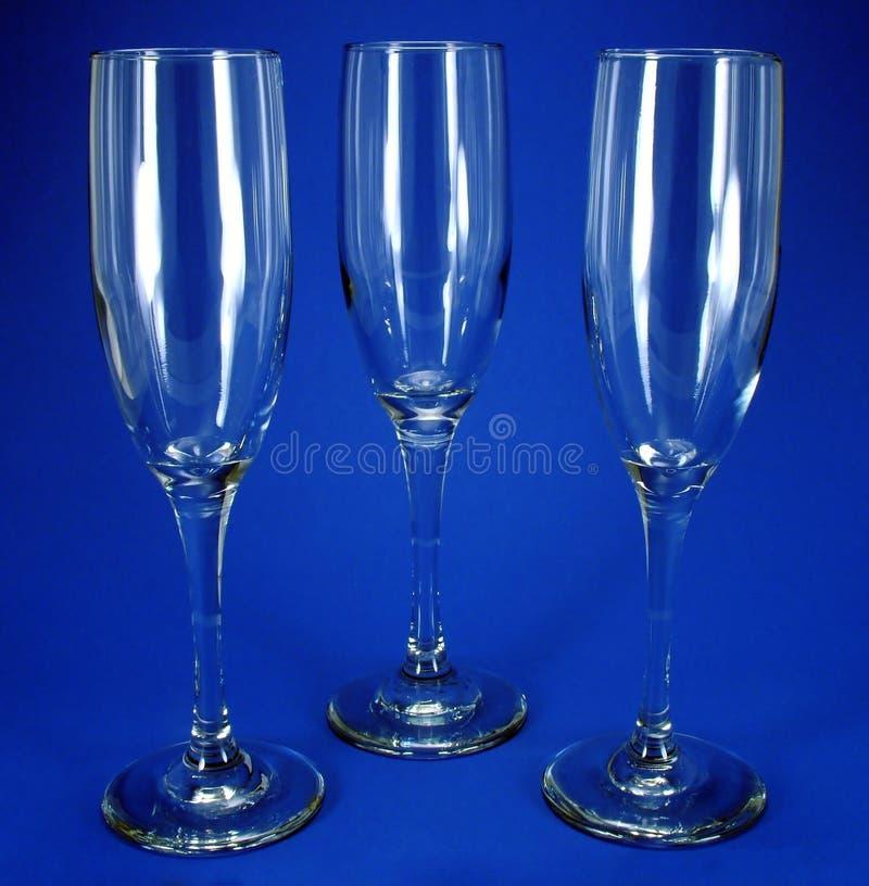 Three wine Glasses stock image