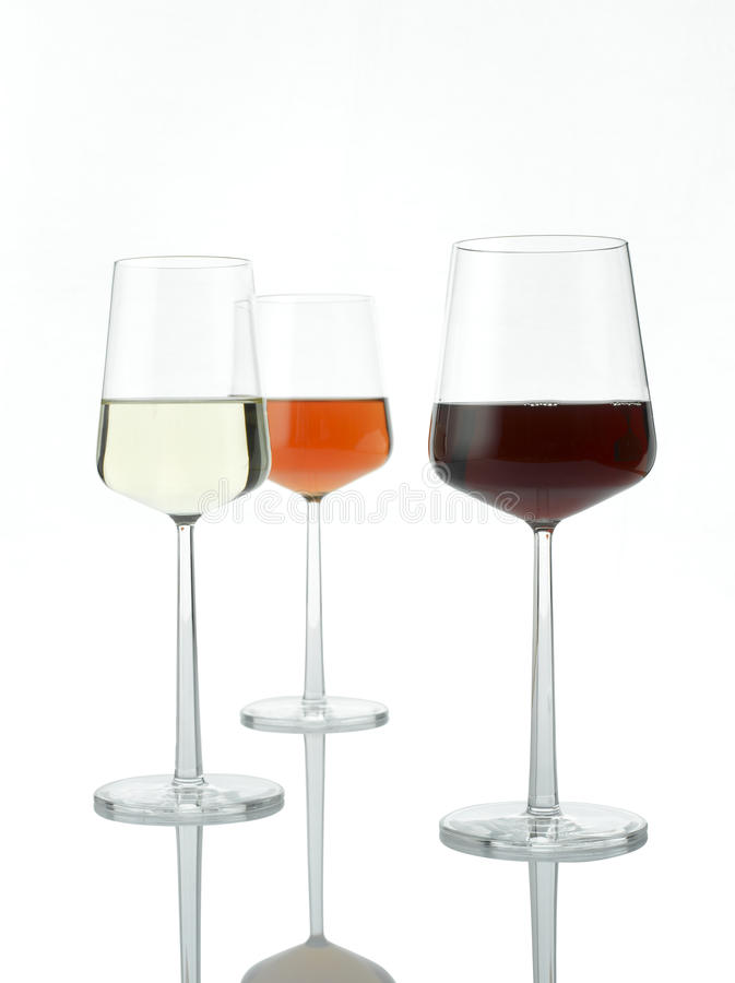 Three Colors Of Wine stock photography