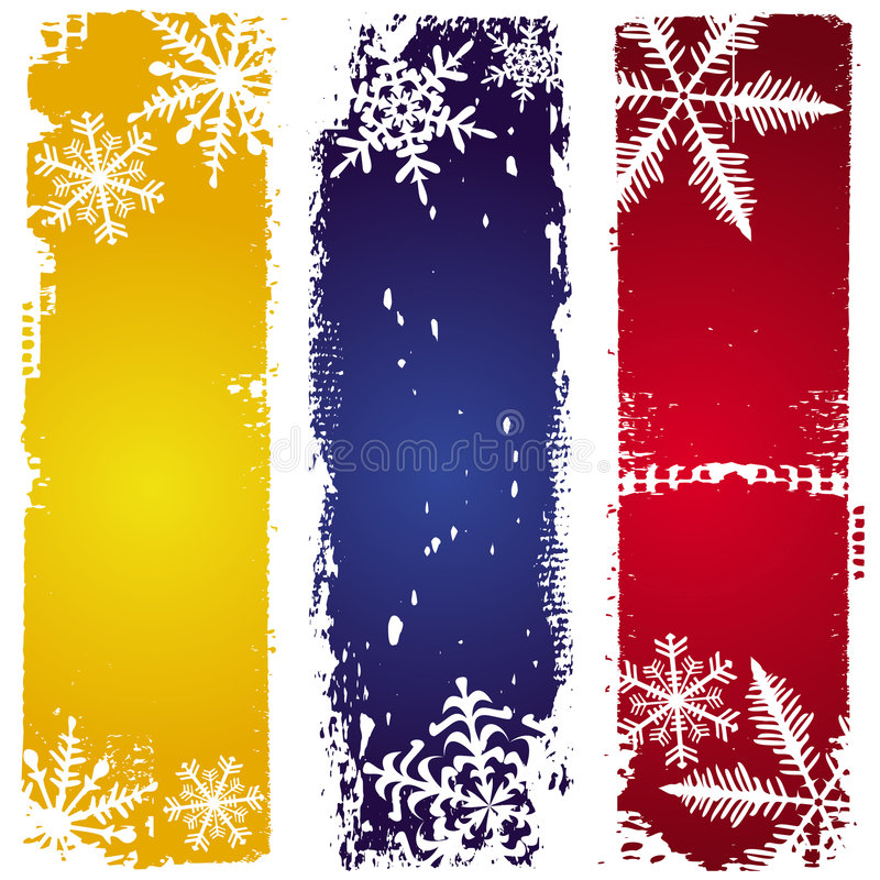 Download Three winter banners stock vector. Illustration of shine - 7005623