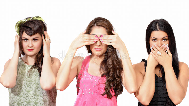 Three Wise Girls Royalty Free Stock Photo