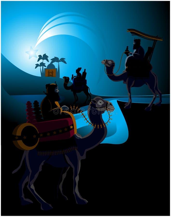 Three wise men stock illustration