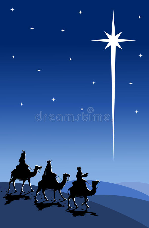 Download Three Wise Men Travellling On Camel Back Stock Vector - Image: 35232394