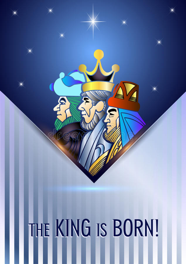 Three Wise Men are visiting Jesus Christ after His birth royalty free stock photos
