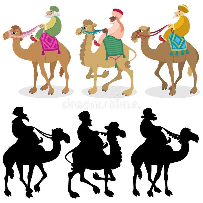 Download Three Wise Men on White stock vector. Image of christianity - 16756709