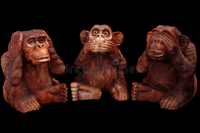 Three wise monkeys royalty free stock photography