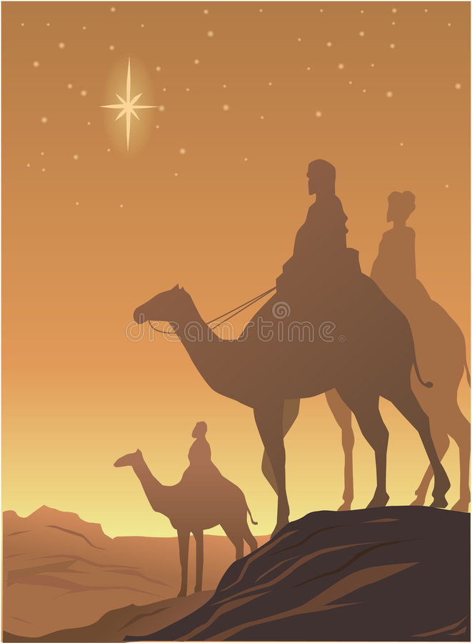 Download Three wisemen stock vector. Illustration of bedouin, mountains - 1625221