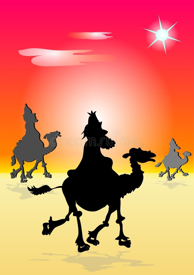 The Three Wisemen stock illustration