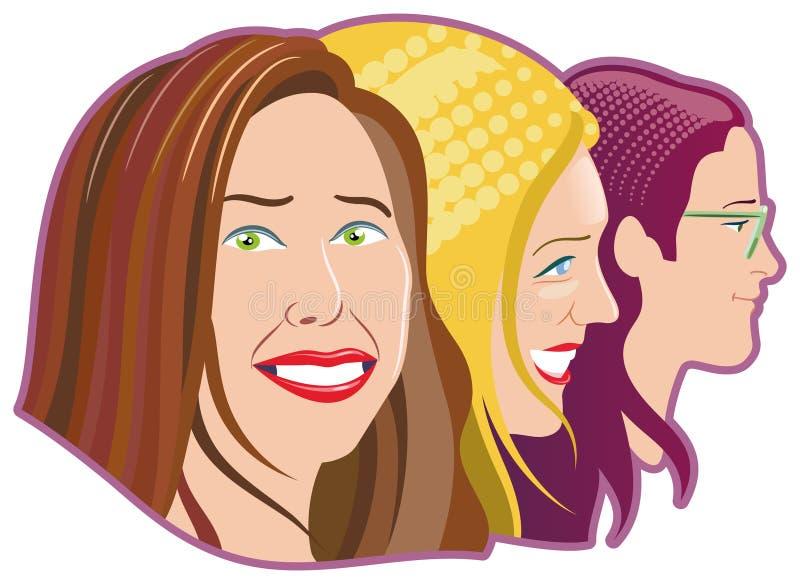 Download Three women stock vector. Illustration of green, woman - 28653491