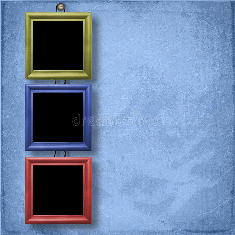 Download Three Wooden Frameworks For Portraiture Stock Illustration - Image: 7283724