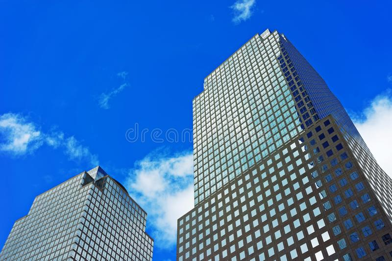 Three World Financial Center in Financial District US. Three World Financial Center in Financial District. It is also known as American Express Tower, or 200 stock photo