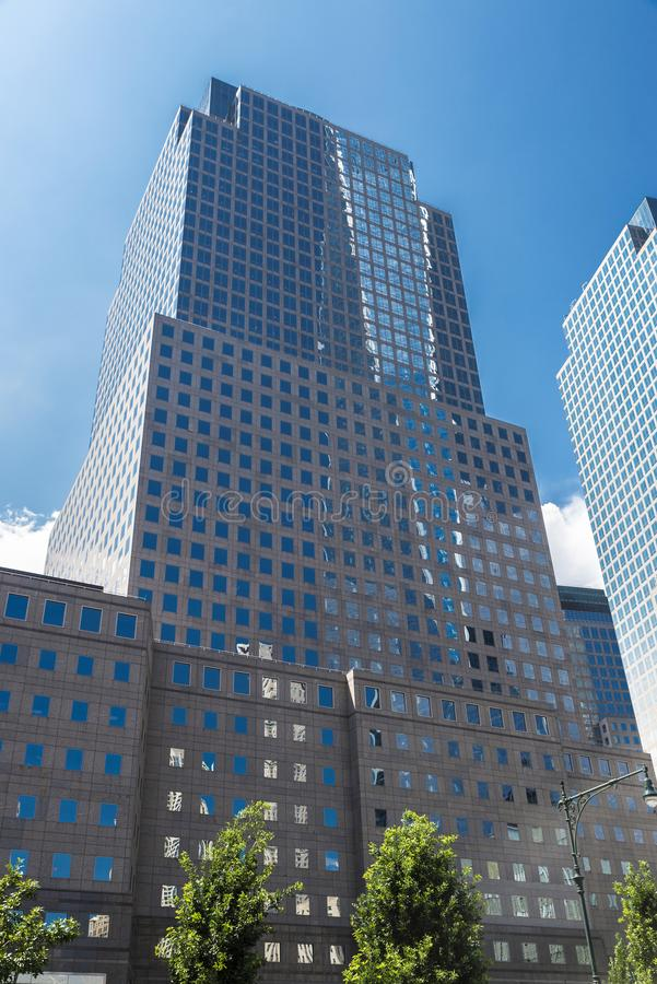 Three World Financial Center in Manhattan, New York City, USA. New York City, USA - July 27, 2018: Three World Financial Center in Financial District in royalty free stock photos