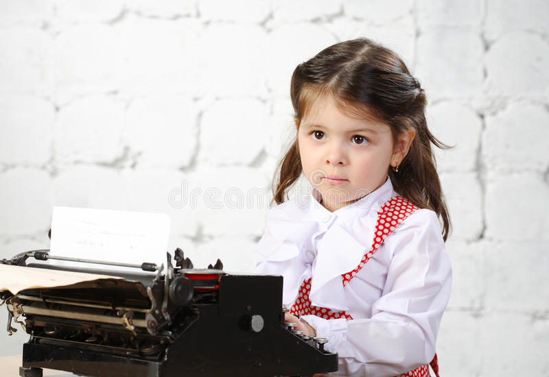Three-year girl stock images