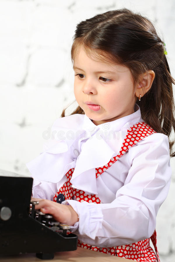 Three-year girl stock photography