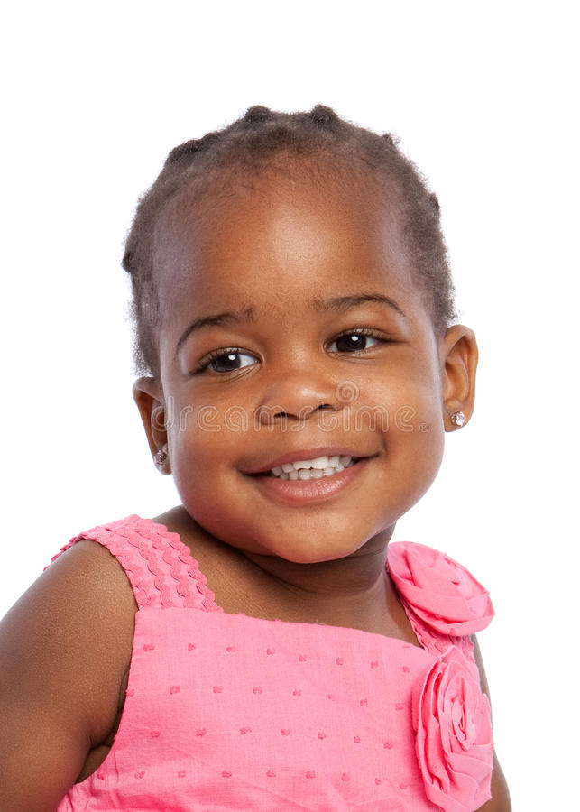 Download Three Year Old African American Girl Heahshot Stock Image - Image: 25070687