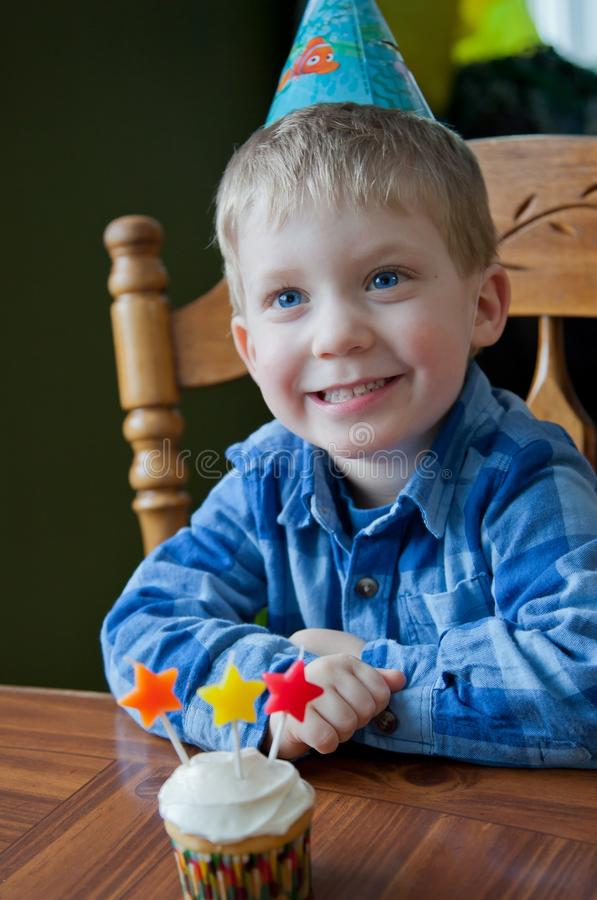 Three year old Birthday Party of Toddler boy royalty free stock image