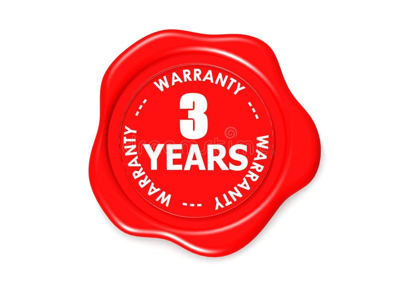 Download Three YEARS warranty seal stock illustration. Illustration of directly - 27987570