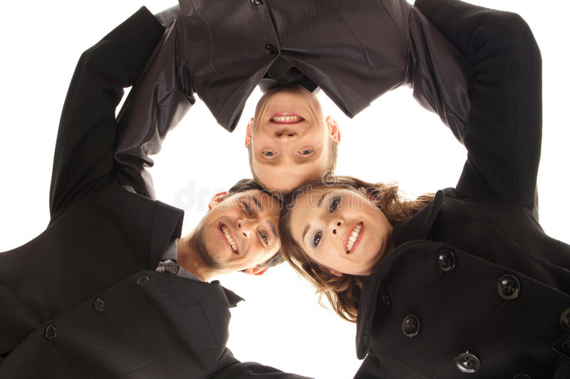 Three Young Business Persons In Formal Clothes Royalty Free Stock Image