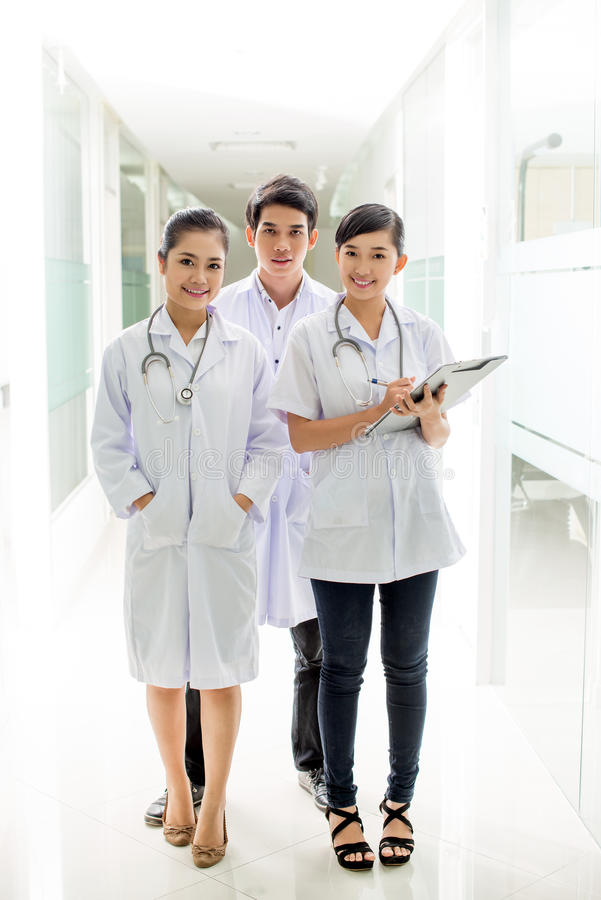 Three young doctors