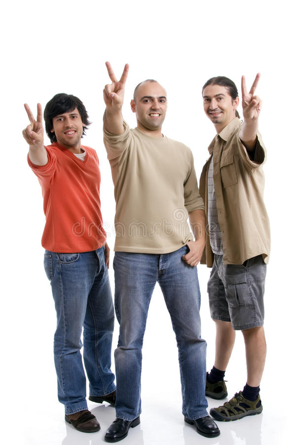 Download Three young man stock photo. Image of isolated, happiness - 11017758