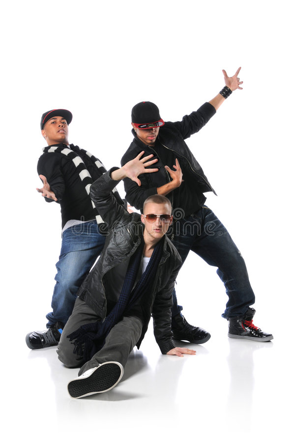 Three Young Man Dancing stock photography