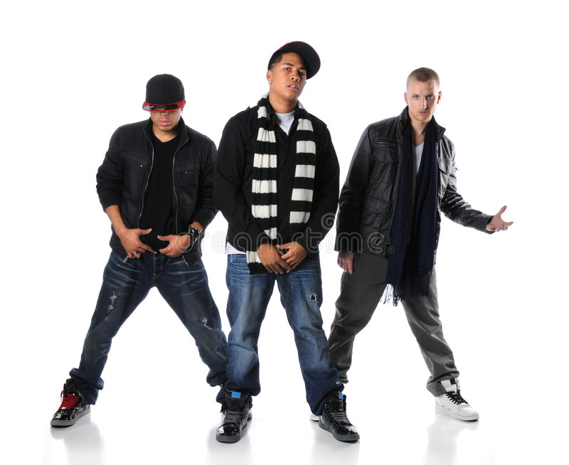 Three Young Men Standing royalty free stock photography