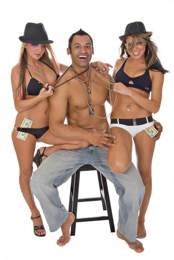 Download Three Young Models Having Fun Stock Photo - Image: 2992934