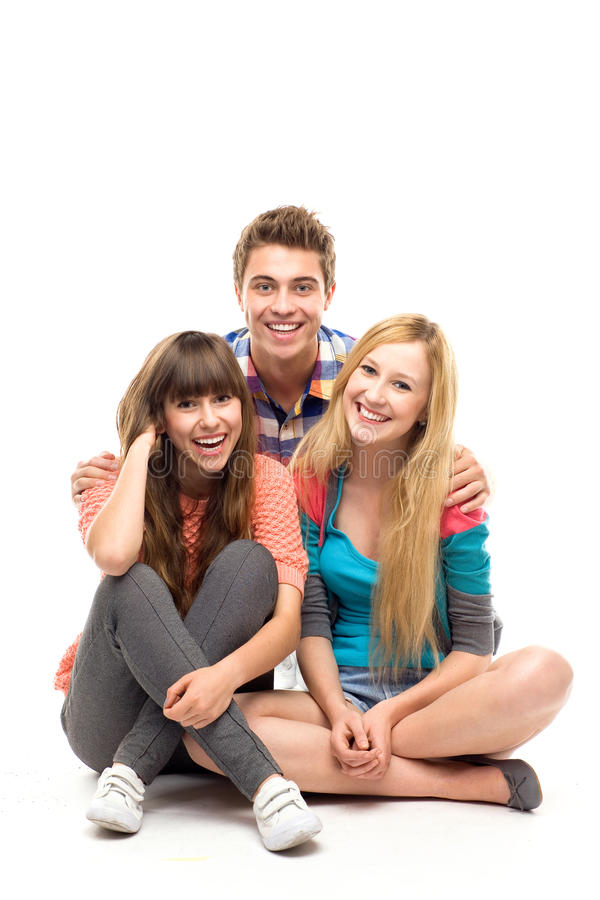 Three young people royalty free stock image
