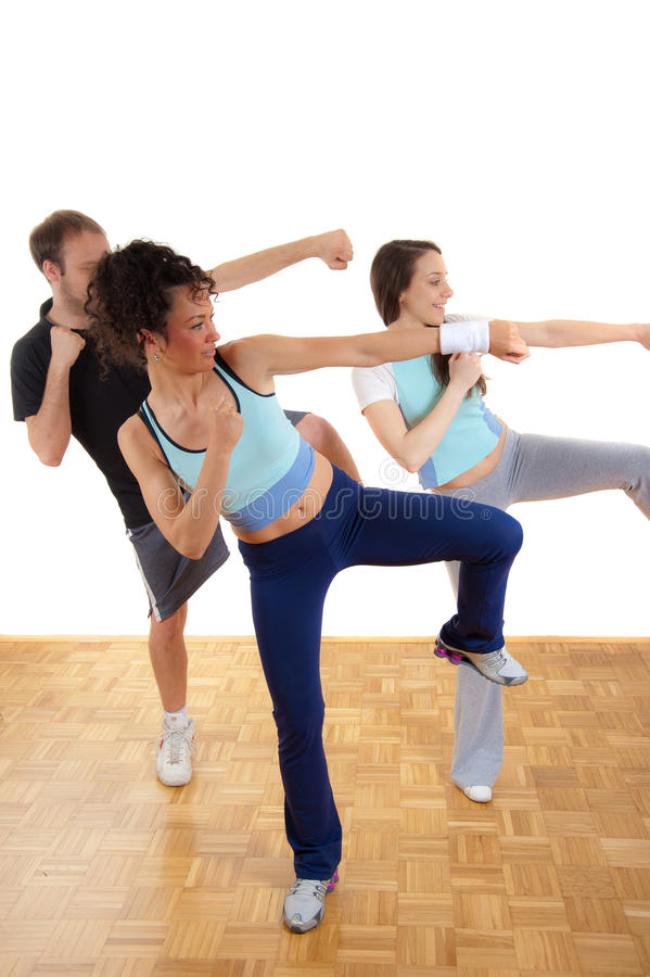 Download Three Young People Group Fitness Training Stock Photo - Image: 19098836