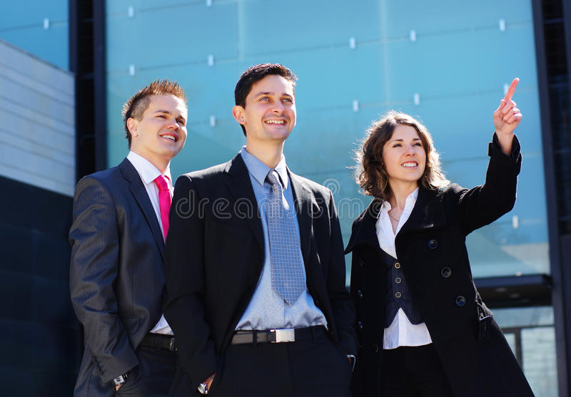 Download Three Young And Smart Caucasian Businessperson Stock Photo - Image of businesswoman, business: 20021206