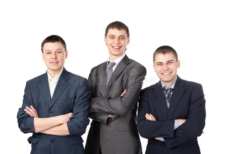 Download Three Young Smiling Business Men Stock Photo - Image of people, partnership: 25750364