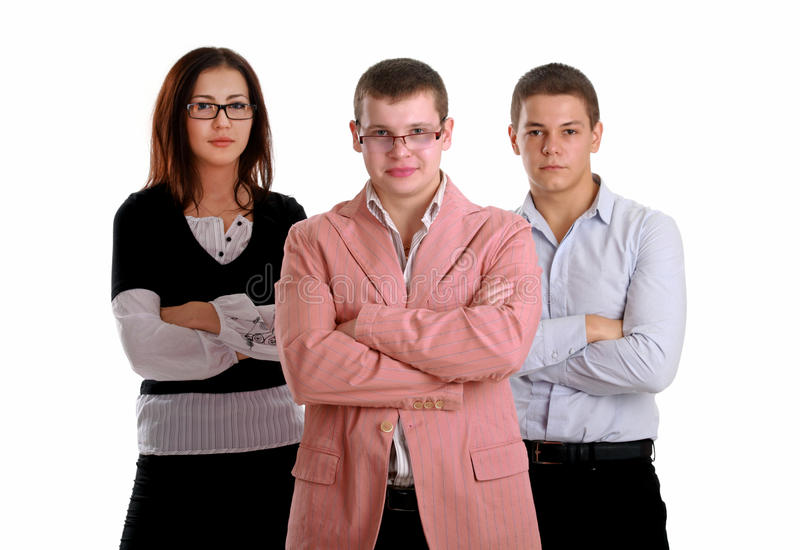 Three Young Successful Businesspeople Royalty Free Stock Images