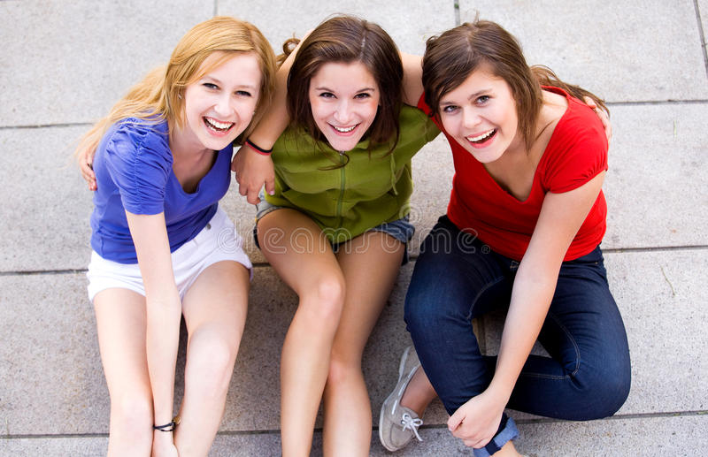 Three Young Women stock photography