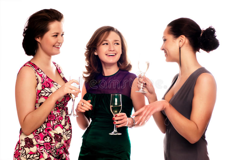 Download Three Young Women stock image. Image of girl, indoors - 9835947