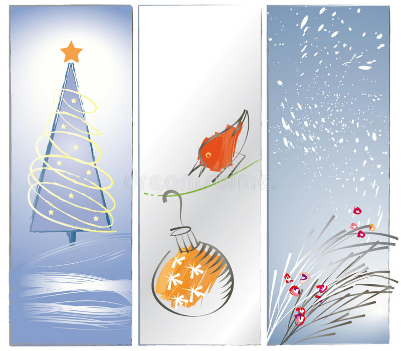 Download Three Zen Christmas Backgrounds Or Banners Stock Vector - Image: 17406391