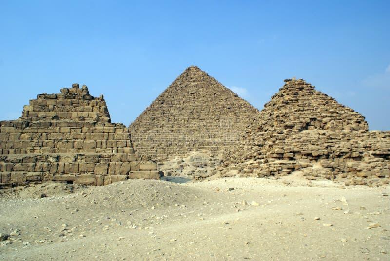 Threee Piramids Stock Photo
