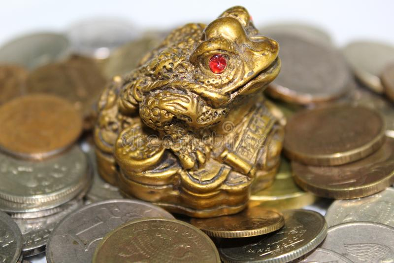 Threelegged żaba symbol bogactwo obraz royalty free