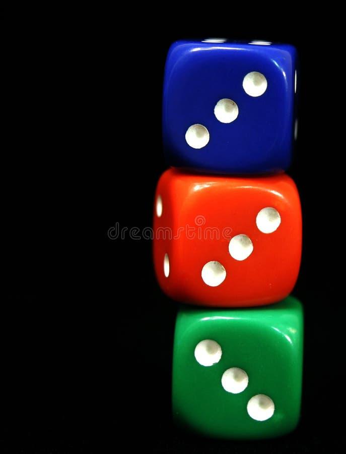 Download Threes stockbild. Bild von spiel, rolle, drei, würfel, karten - 26095